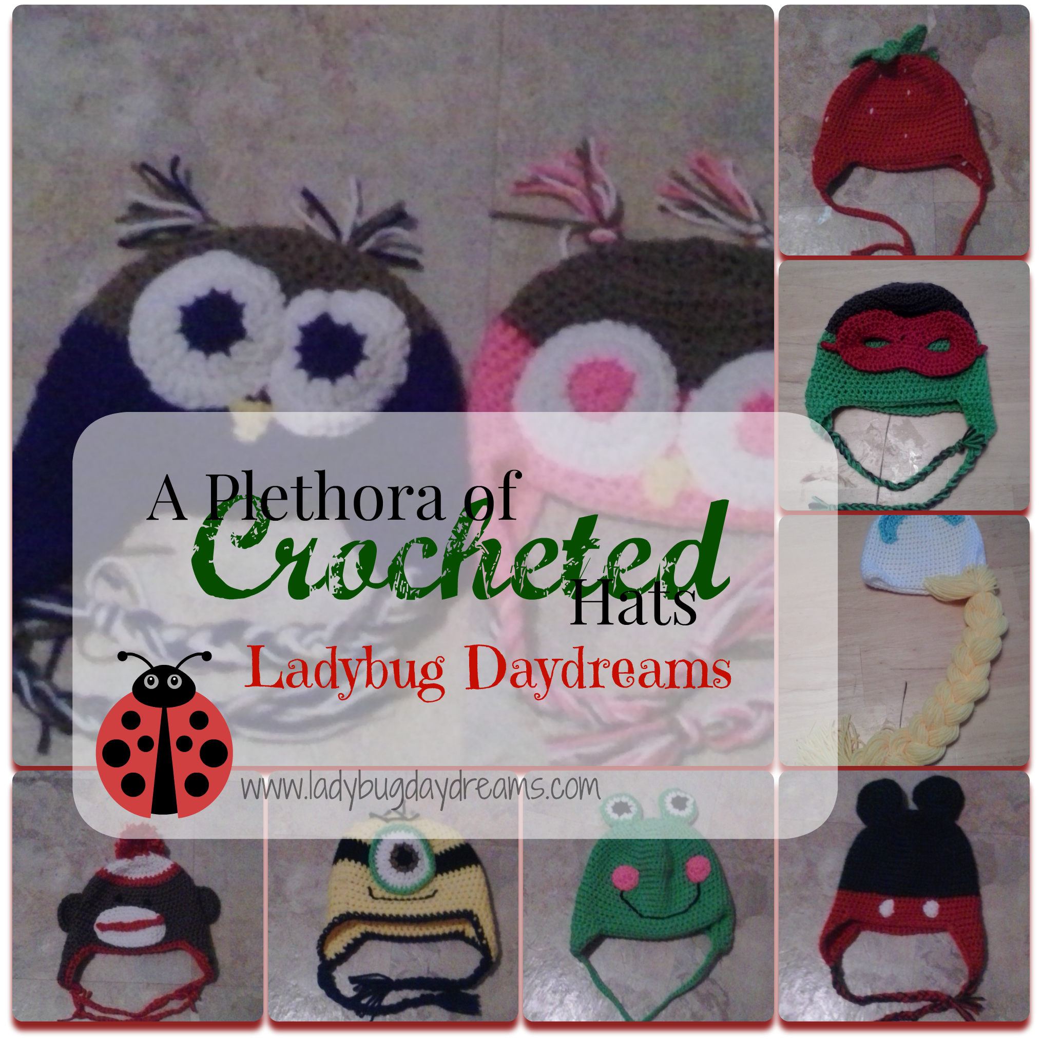 A Plethora of Crocheted Hats from Ladybug Daydreams