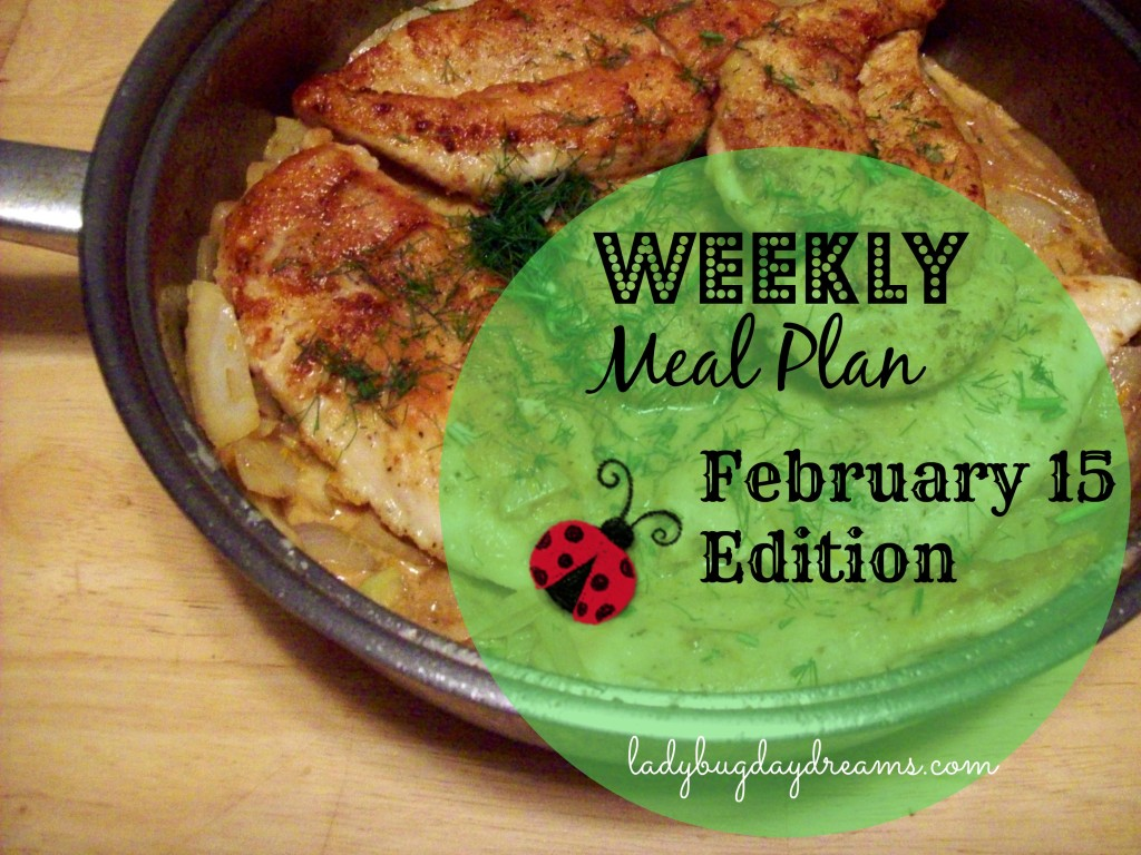 Weekly Meal Plan with recipe links | Ladybug Daydreams