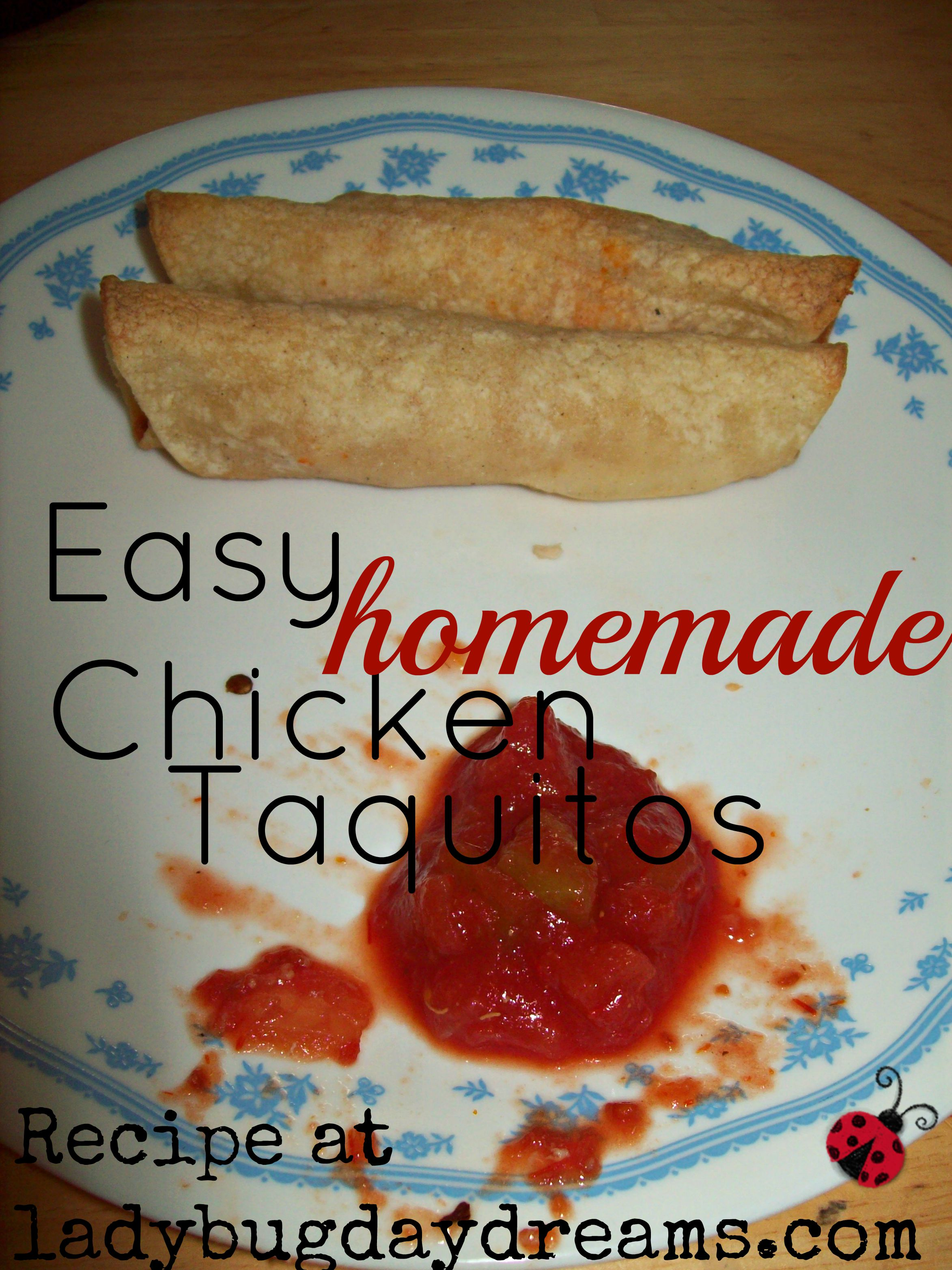 Easy Homemade Chicken Taquitos Recipe