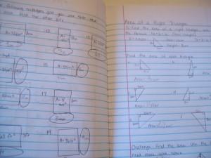 Munchkin's handwritten math worksheets.