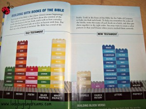 Bible books bricks