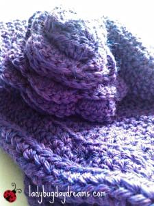 purple cloche hat