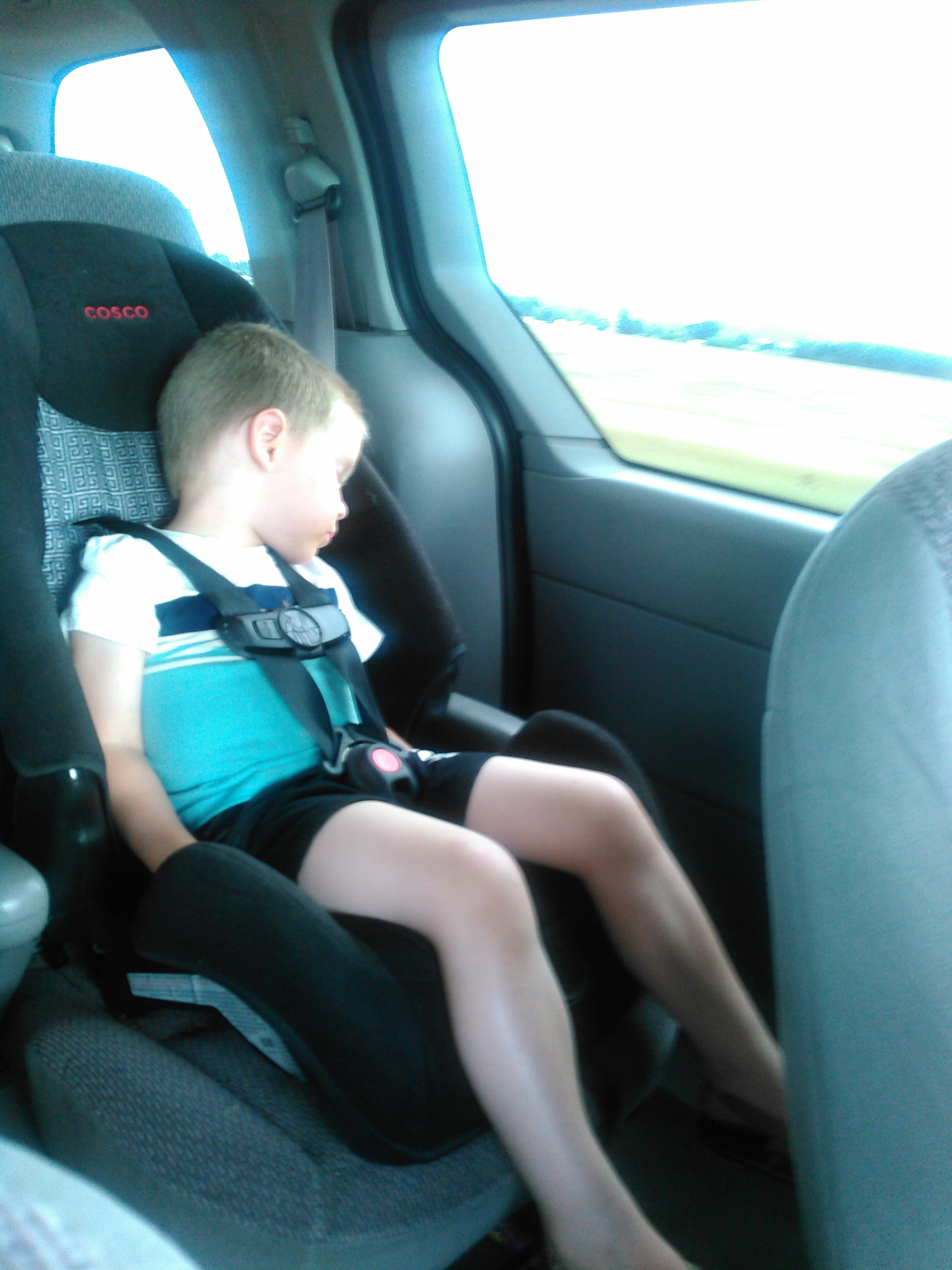 Too tired to make it all the way home without a nap