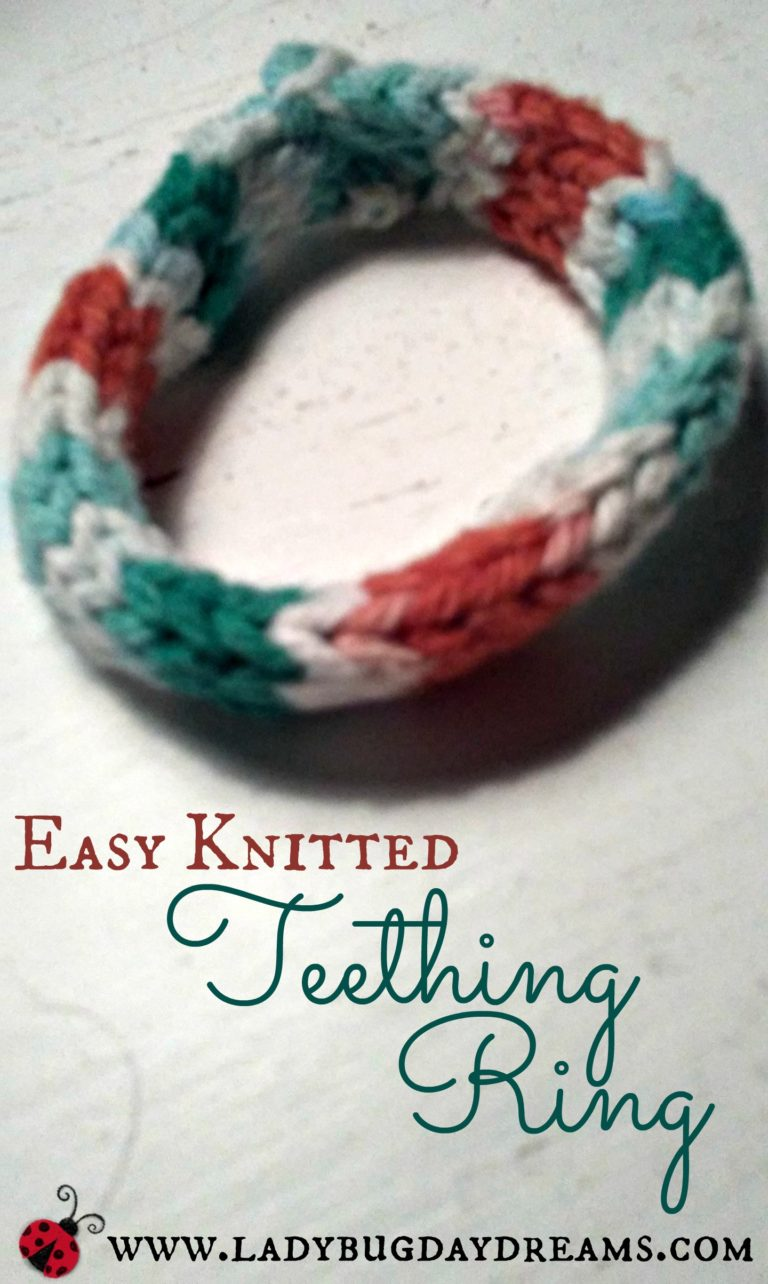 Teething Ring ~ Easy Knit Pattern