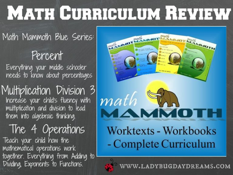 Math Mammoth review from Ladybug Daydreams