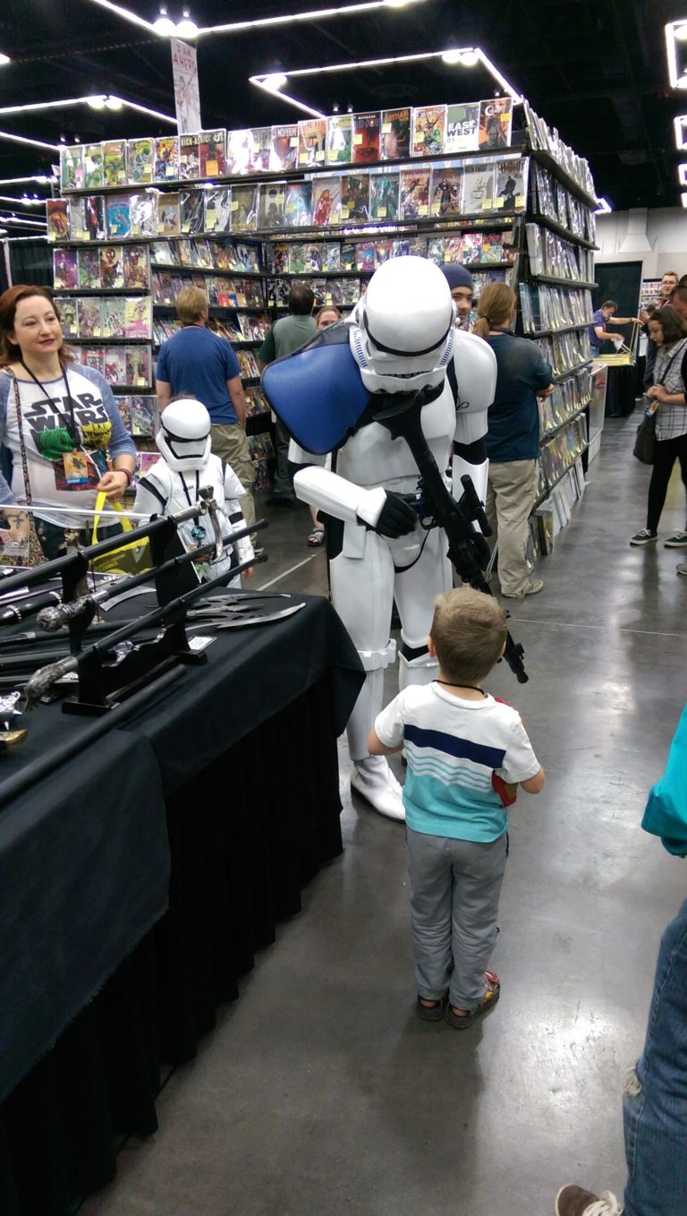 With a Storm Trooper