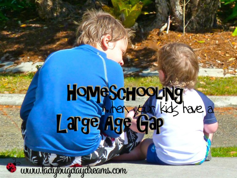 Homeschooling when your kids have a large age gap
