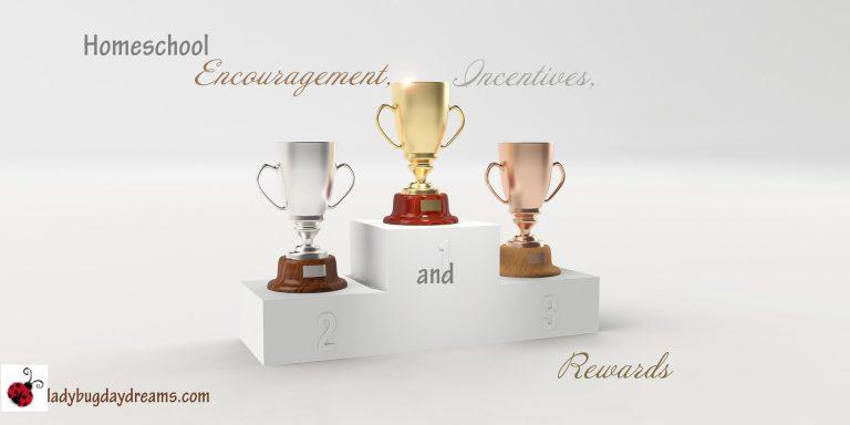 Homeschool Encouragement, incentives, and rewards